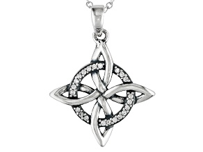 Bella Luce ® .20ct Oxidized Rhodium Over Sterling Silver Pendant With 18 inch Chain