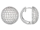 Bella Luce ® 4.55ctw Rhodium Over Sterling Silver Earrings