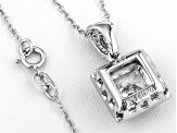 Bella Luce ® 4.41ctw Rhodium Over Sterling Pendant With Chain
