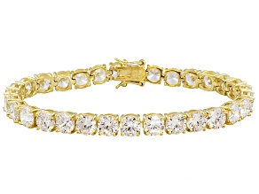 Bella Luce ® White Diamond Simulant 40.50ctw18k Yellow Gold Sterling Silver Bracelet