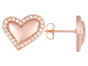 Bella Luce ® .78ctw 18k Rose Gold Over Sterling Silver Heart Earrings