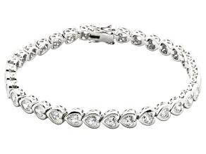 Cubic Zirconia Sterling Silver Bracelet 12.32ctw