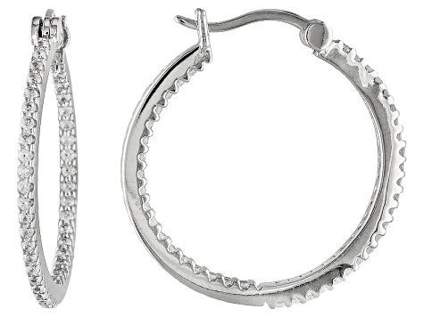 Bella Luce ® 1.23ctw Platinum Over Sterling Silver Hoop Earrings