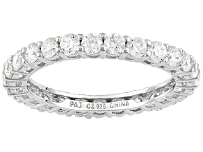 Bella Luce ® White Cubic Zirconia 2.73ctw Platinum Plated Sterling Silver Eternity Band