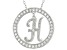 Bella Luce ® 1.07ctw Round Rhodium Over Sterling Silver initial H Pendant With 18