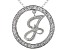 Bella Luce ® 1.07ctw Round Rhodium Over Sterling Silver initial J Pendant With 18