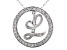 Bella Luce ® 1.16ctw Round Rhodium Over Sterling Silver initial L Pendant With 18