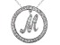 Bella Luce ® 1.18ctw Round Rhodium Over Sterling Silver initial M Pendant With 18