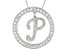 Bella Luce ® 1.07ctw Round Rhodium Over Sterling Silver initial P Pendant With 18