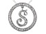 Bella Luce ® 1.13ctw Round Rhodium Over Sterling Silver initial S Pendant With 18