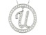 Bella Luce ® 1.07ctw Round Rhodium Over Sterling Silver initial U Pendant With 18