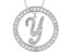 Bella Luce ® 1.07ctw Round Rhodium Over Sterling Silver initial Y Pendant With 18