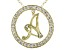 Bella Luce ® 1.09ctw Round 18k Yellow Gold Over Sterling Silver initial A Pendant With 18