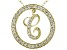 Bella Luce ® 1.24ctw Round 18k Yellow Gold Over Sterling Silver initial C Pendant With 18