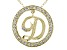Bella Luce ® 1.09ctw Round 18k Yellow Gold Over Sterling Silver initial D Pendant With 18