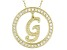 Bella Luce ® 1.07ctw Round 18k Yellow Gold Over Sterling Silver initial G Pendant With 18