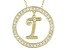 Bella Luce ® 1.07ctw Round 18k Yellow Gold Over Sterling Silver initial I Pendant With 18