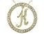 Bella Luce ® 1.07ctw Round 18k Yellow Gold Over Sterling Silver initial K Pendant With 18