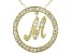 Bella Luce ® 1.18ctw Round 18k Yellow Gold Over Sterling Silver initial M Pendant With 18