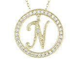Bella Luce ® 1.07ctw Round 18k Yellow Gold Over Sterling Silver initial N Pendant With 18