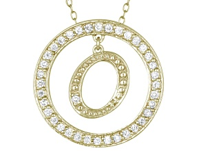 Bella Luce ® 1.07ctw Round 18k Yellow Gold Over Sterling Silver initial O Pendant With 18