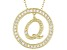 Bella Luce ® 1.07ctw Round 18k Yellow Gold Over Sterling Silver initial Q Pendant With 18 Chain