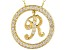 Bella Luce ® 1.24ctw Round 18k Yellow Gold Over Sterling Silver initial R Pendant With 18