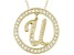 Bella Luce ® 1.07ctw Round 18k Yellow Gold Over Sterling Silver initial U Pendant With 18