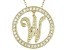 Bella Luce ® 1.07ctw Round 18k Yellow Gold Over Sterling Silver initial W Pendant With 18