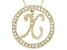 Bella Luce ® 1.07ctw Round 18k Yellow Gold Over Sterling Silver initial X Pendant With 18