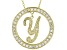 Bella Luce ® 1.07ctw Round 18k Yellow Gold Over Sterling Silver initial Y Pendant With 18