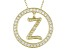 Bella Luce ® 1.07ctw Round 18k Yellow Gold Over Sterling Silver initial Z Pendant With 18