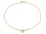 .48ctw 18k Yellow Gold Over Sterling Silver 9 inch Flower Anklet