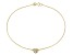 .15ctw 18k Yellow Gold Over Sterling Silver 9 inch Heart Anklet