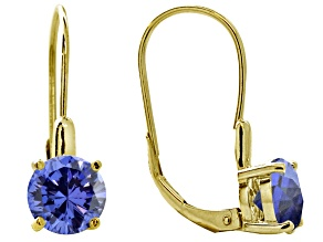 Bella Luce ® 4.50ctw Tanzanite Color 18k Yellow Gold Over Sterling Silver Earrings