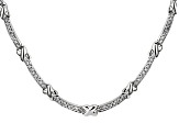 White Cubic Zirconia Sterling Silver Necklace 4.56ctw