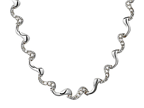 White Cubic Zirconia Silver Necklace 1.80ctw