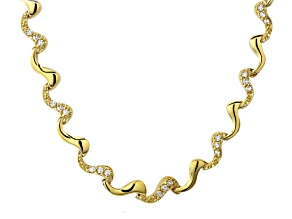 White Cubic Zirconia 18k Yellow Gold Over Silver Necklace 1.80ctw