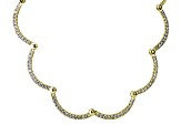 White Diamond Simulant 18k Yellow Gold Over Sterling Silver Necklace 7.00ctw