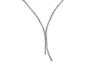 White Cubic Zirconia Silver Necklace 6.40ctw