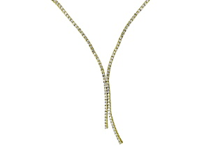 White Cubic Zirconia 18k Yellow Gold Over Sterling Silver Necklace 6.40ctw