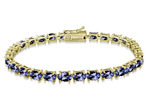 Bella Luce ™ Esotica ™ 26.10ctw Tanzanite Color 18k Yg Over Sterling Silver Bracelet 7.25 inch