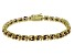 Brown Cubic Zirconia 18k Yellow Gold Over Sterling Silver Tennis Bracelet 26.10ctw