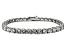 White Cubic Zironia Sterling Silver Tennis Bracelet 33.30ctw