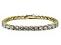 White Cubic Zirconia 18k Yellow Gold Over Sterling Silver Tennis Bracelet 33.30ctw