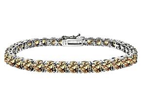 Rhod Pltd S/S B Luce ® 33.30ctw Rd Champ Dia Sim Tennis Bracelet