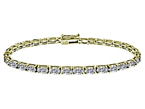 White Cubic Zirconia Sterling Silver Tennis Bracelet 15.75ctw