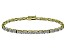 White Cubic Zirconia 18k Yellow Gold Over Sterling Silver Tennis Bracelet 15.75ctw