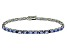 Blue Cubic Zirconia Sterling Silver Tennis Bracelet 15.75ctw