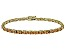 Brown Cubic Zirconia 18k Yellow Gold Over Sterling Silver Tennis Bracelet 15.75ctw